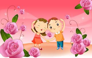 romantic cartoons hd wallpapers
