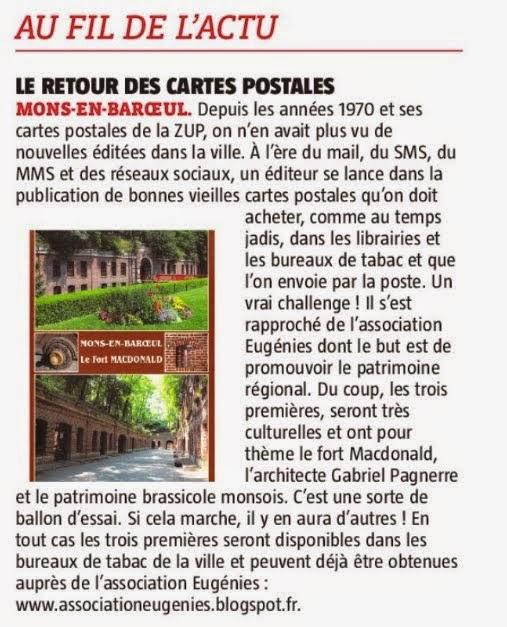 Une carte postale du Fort de Mons