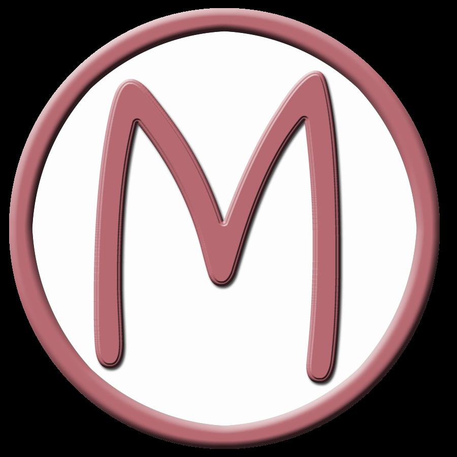 Capital Letter M Circle capital letter m