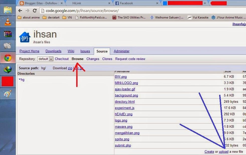 cara upload file ke google code menggunakan browser Gambar3
