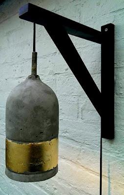 Diy lámpara de hormigón