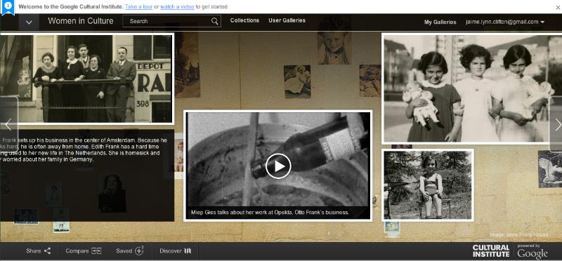 Anne Frank: Women in Culture, Google Cultural Institue