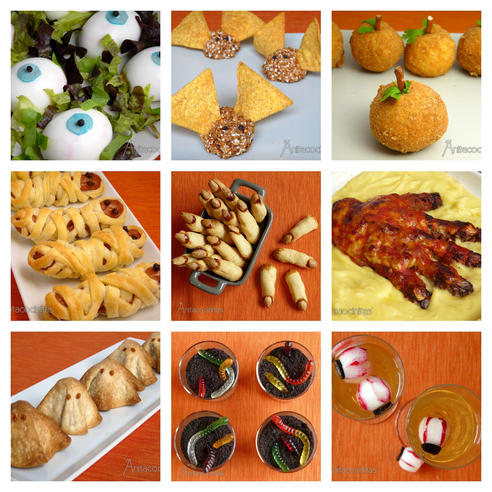 Anita cocinitas especial recetas de halloween for Ideas de comidas faciles