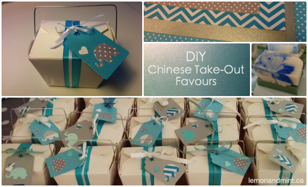 DIY Chinese Take-Out Favours using Martha Stewart Craft Punch and Recollections Gift Tag Punch - lemonandmint.ca