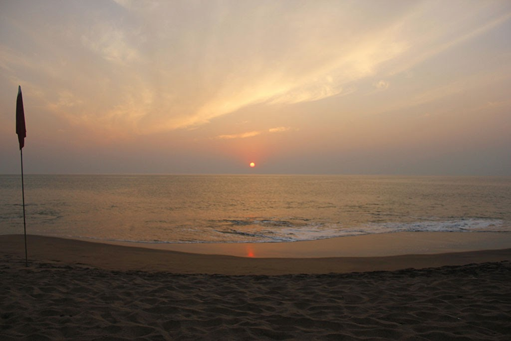 Cola Beach sunset, Goa