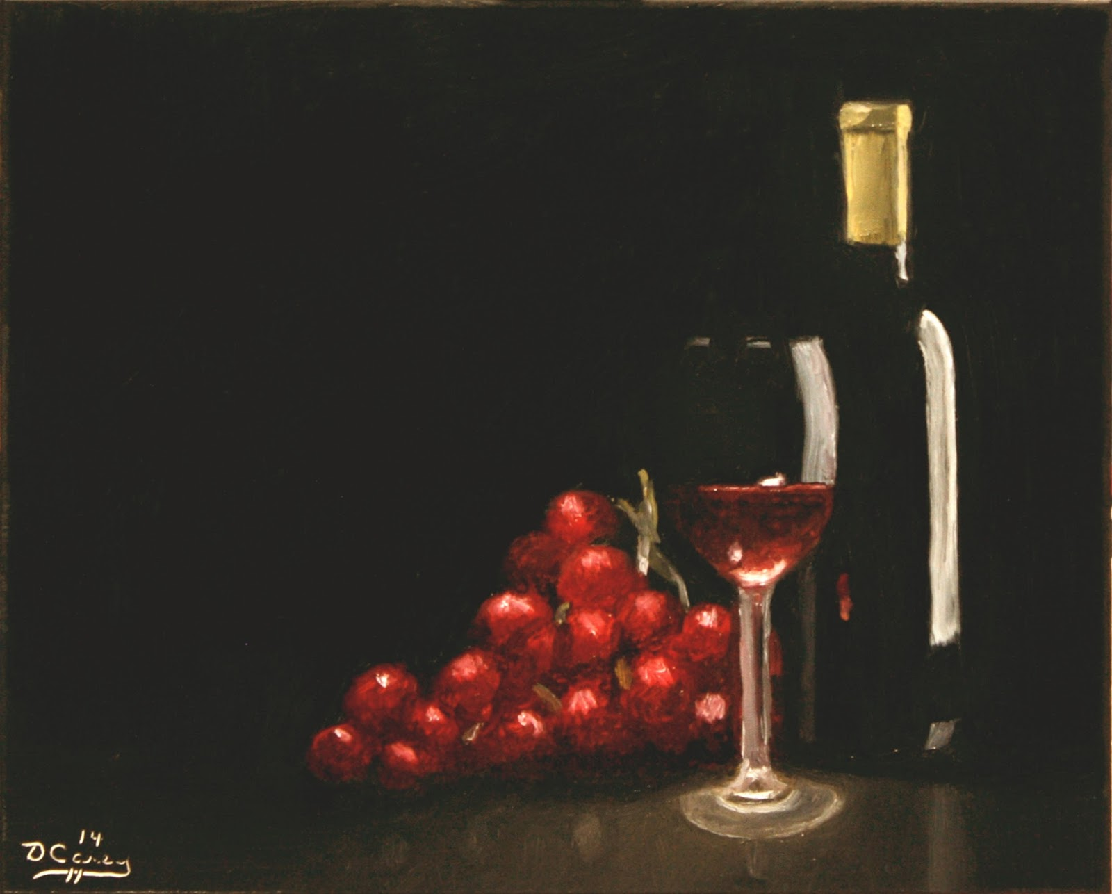 141103 - Wine and Grapes 001a 8x10 oil on gesso panel - Dave Casey - TheDailyPainter.jpg