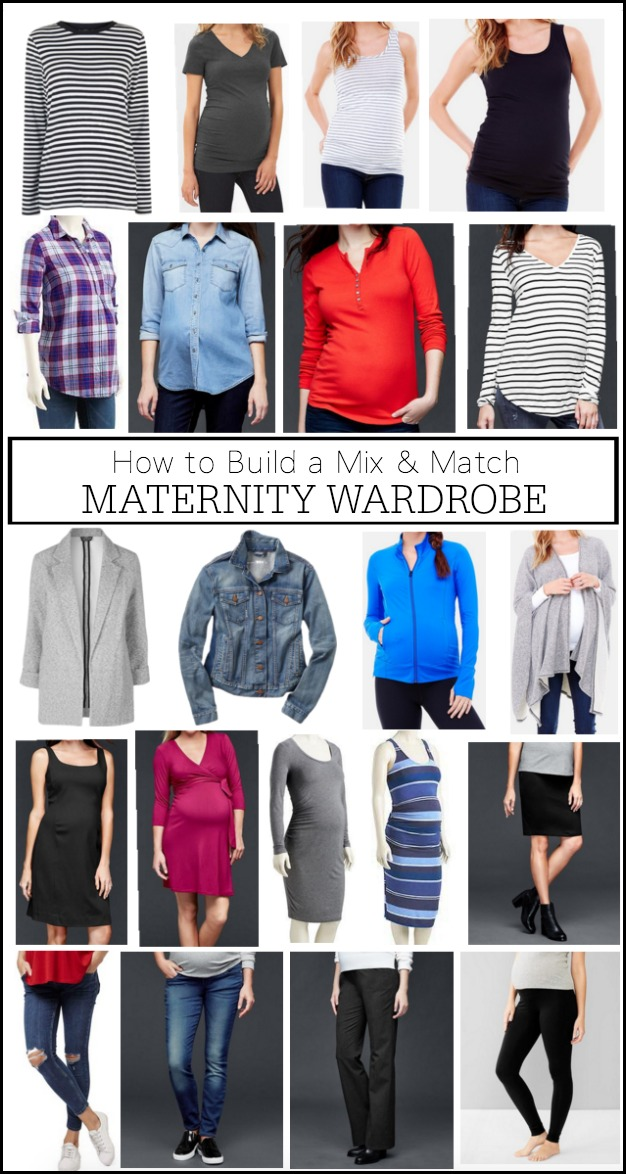 How to Build a Mix & Match Maternity Wardrobe | #maternitystyle #dressingthebump