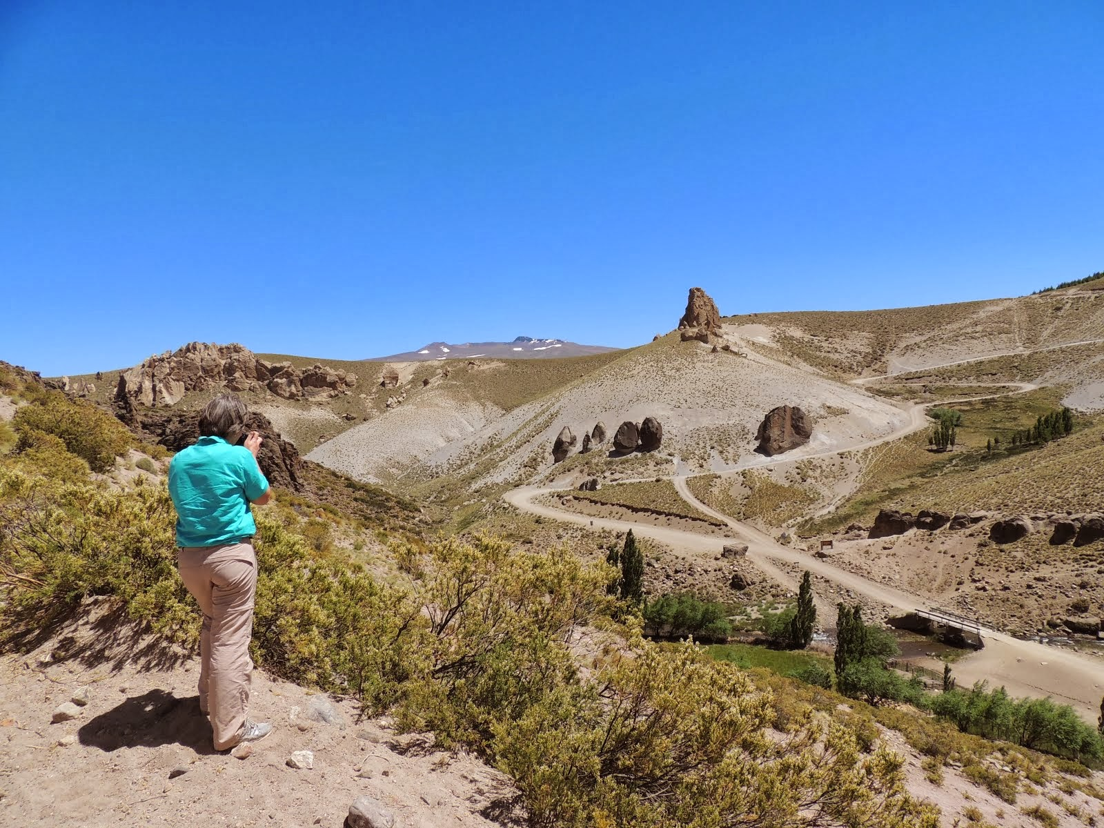 Caminho para Águas Calientes - Neuquén Argentina