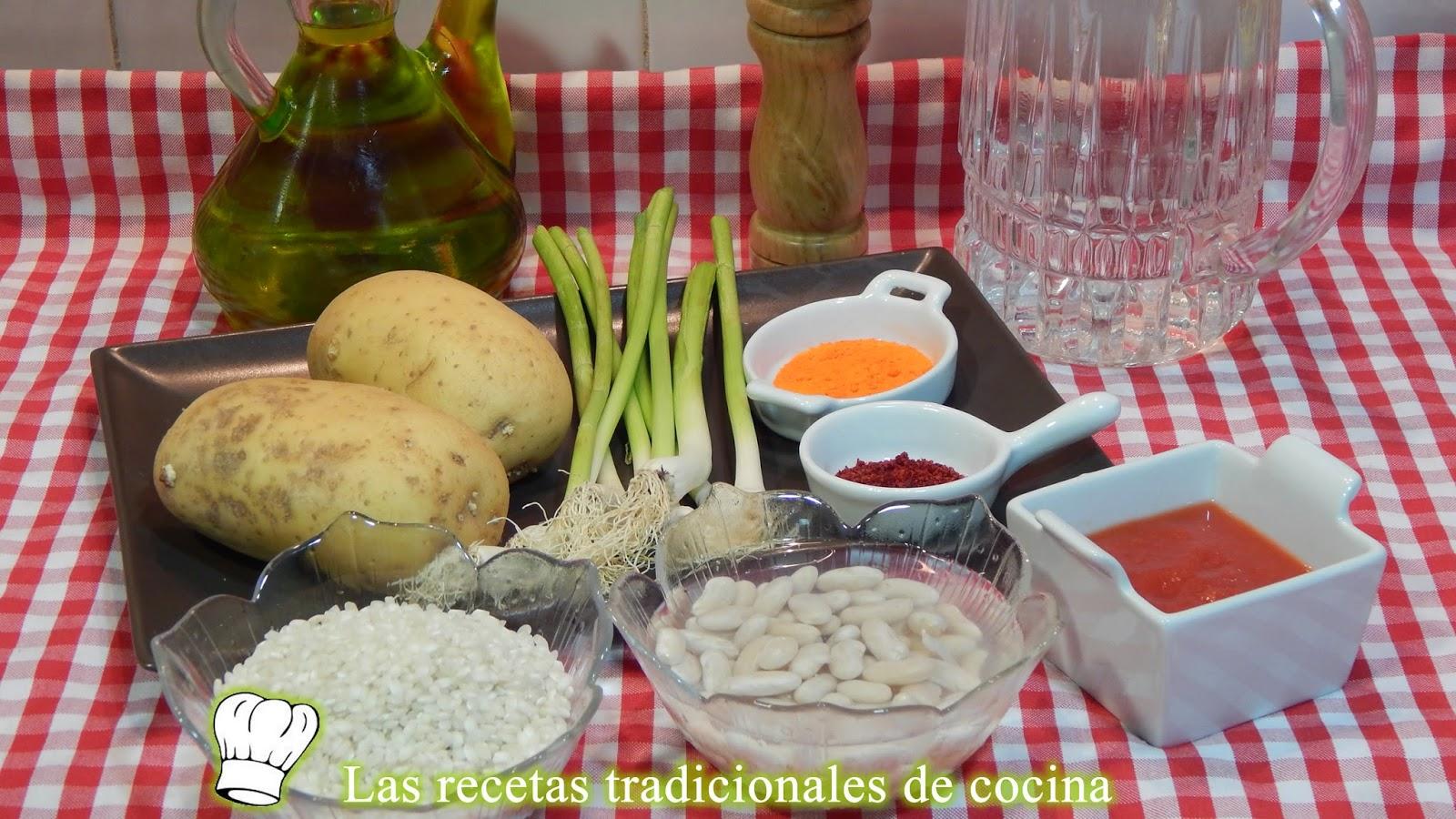 Receta de arroz con habichuelas y ajos tiernos