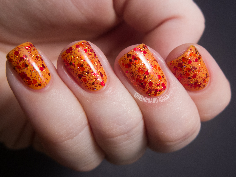 Pretty & Polished - Apples and Pumpkins | Chalkboard Nails | Nail ...