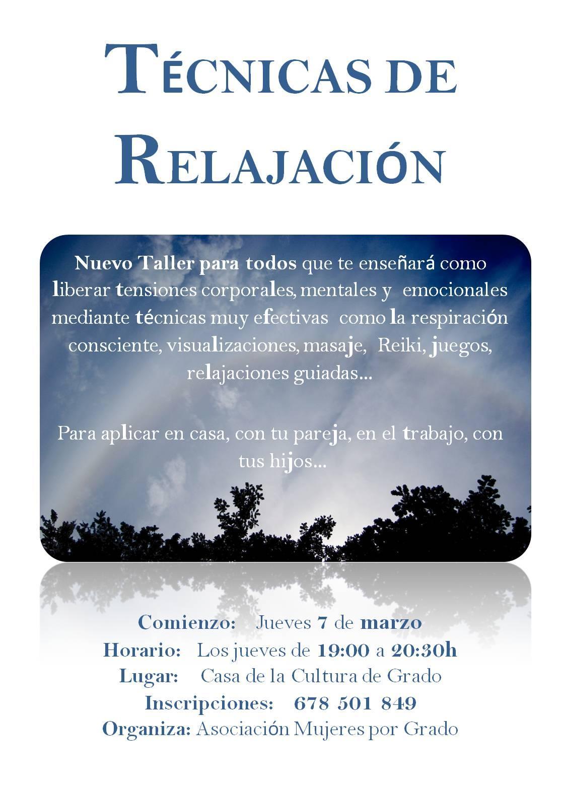 Culturagrado taller de t cnicas de relajaci n - Relajacion en casa ...