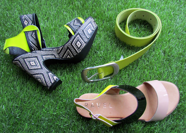 Neon and natural accessories