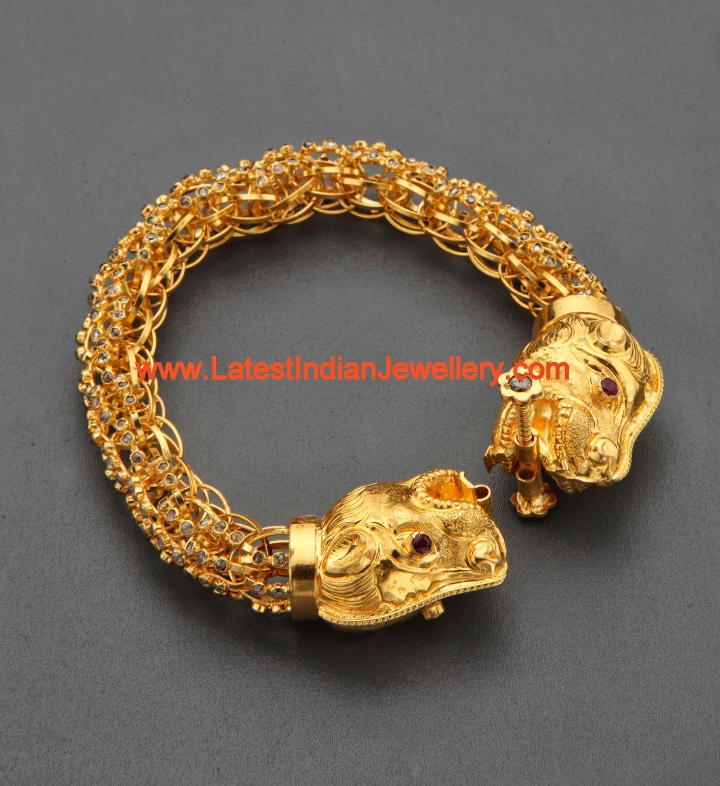 Designer Gold Kada Kankanam