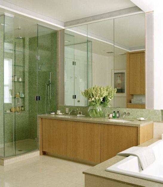 Baños Modernos Verdes:Color VERDE para el Cuarto de Baño