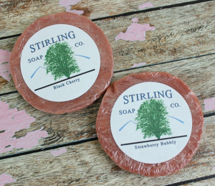 STIRLING SOAP CO. BLACK CHERRY & STRAWBERRY BUBBLY SOAPS