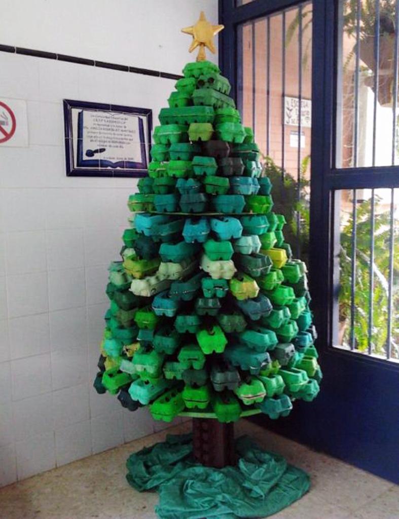 Detallelogia rboles de navidad reciclando papel - Arboles de navidad diferentes ...