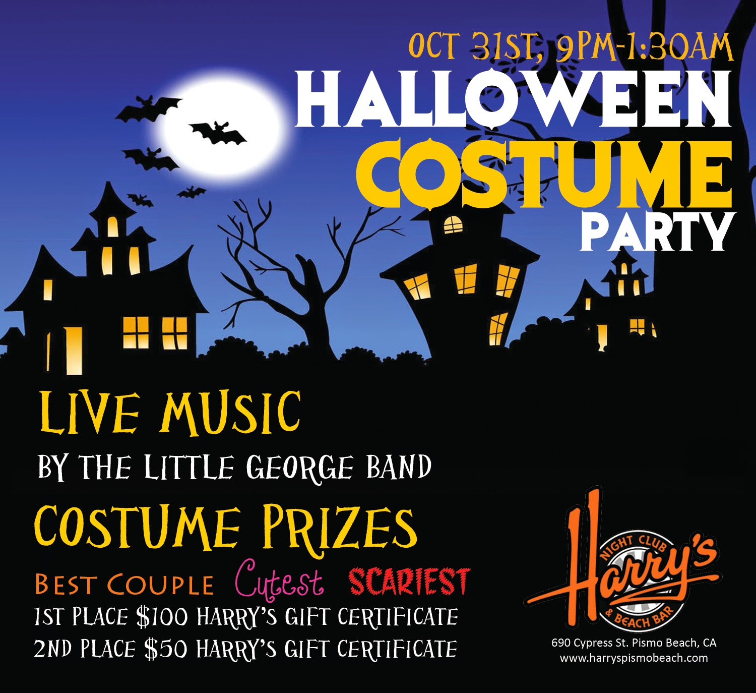 harry's night club & beach bar: join us for our annual halloween