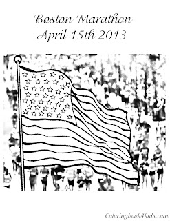 Boston Marathon Bombs coloring pages
