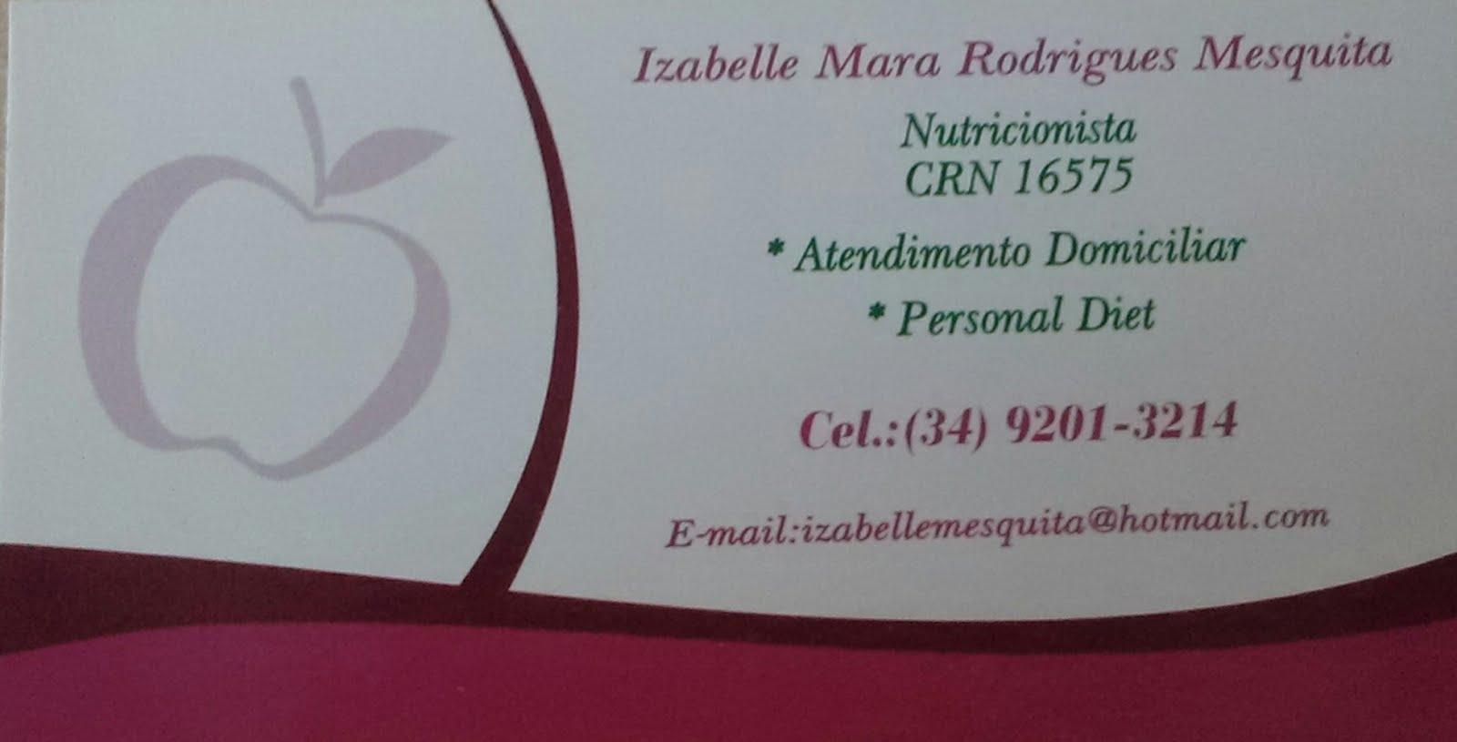 Nutricionista Izabelle Mesquita