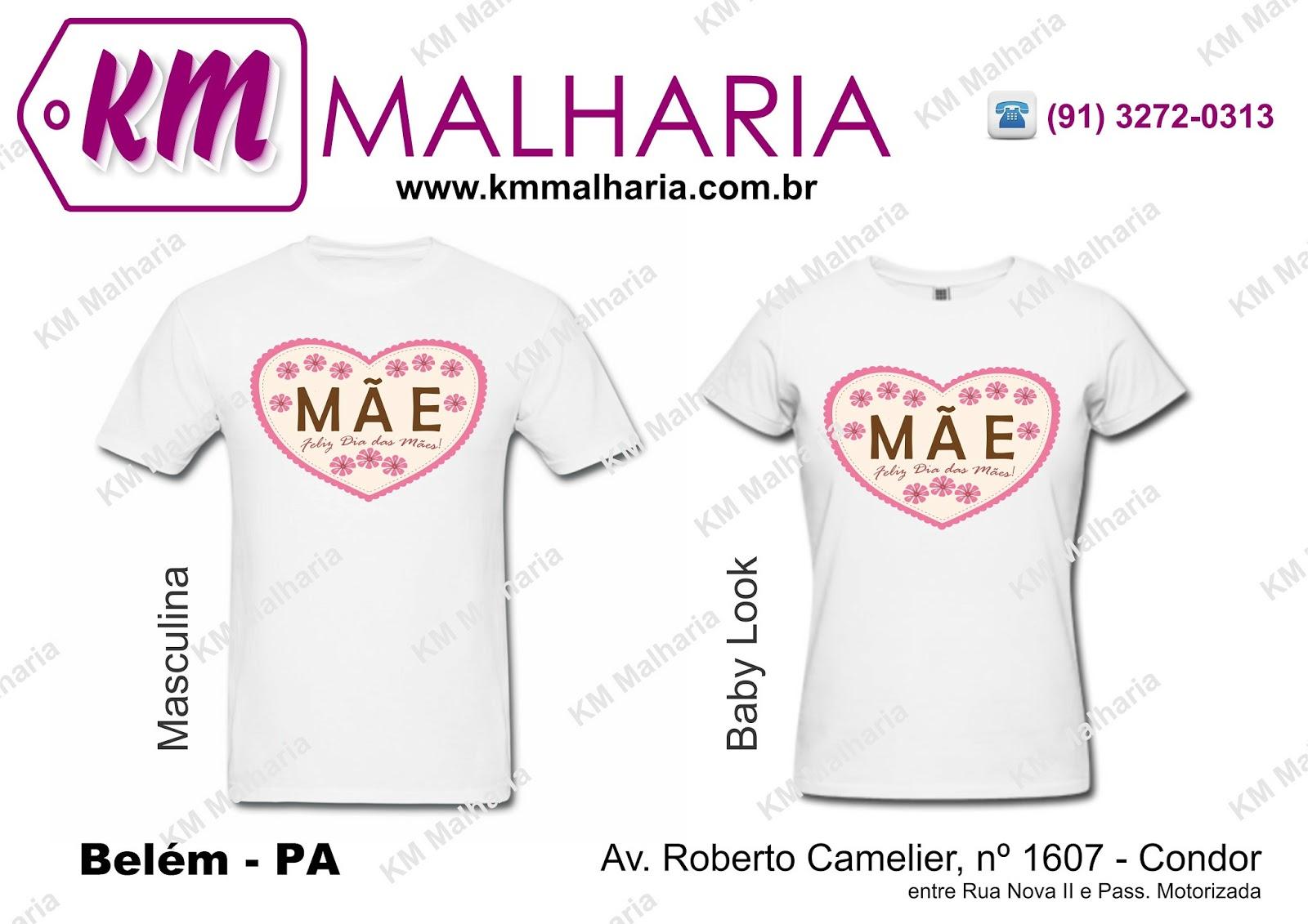 Camiseta Dia Das Mães Caemy Malharia
