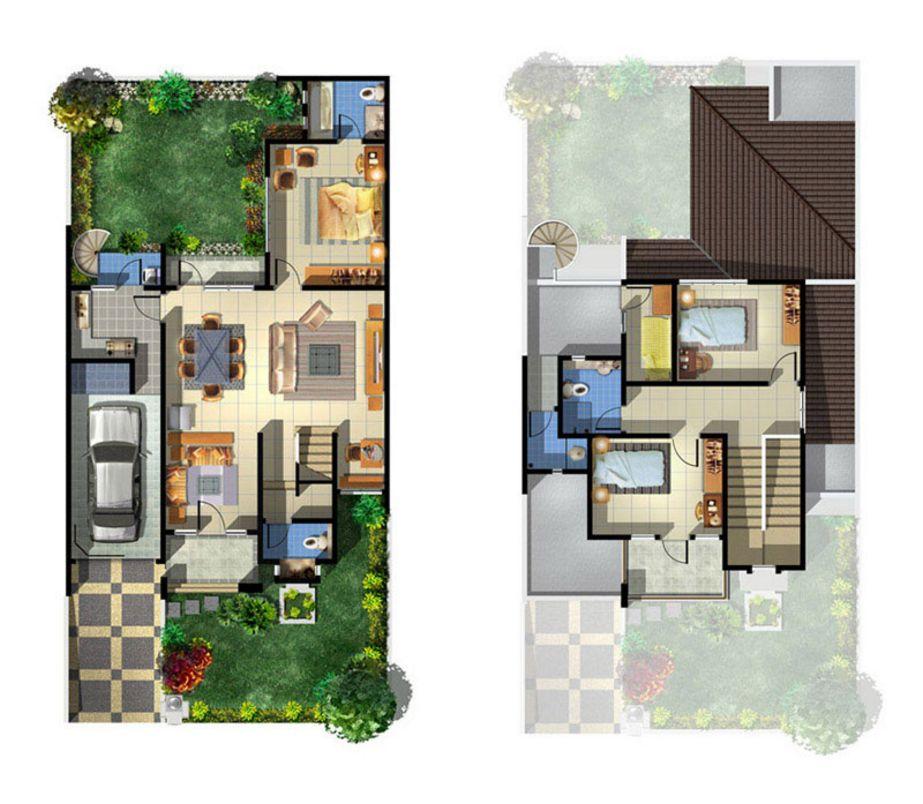 layout denah rumah minimalis type 100 terbaru