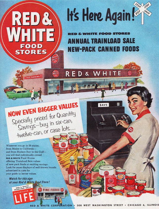 Red and White Food Stores - 1953