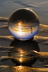 Reflejos en una gota de agua