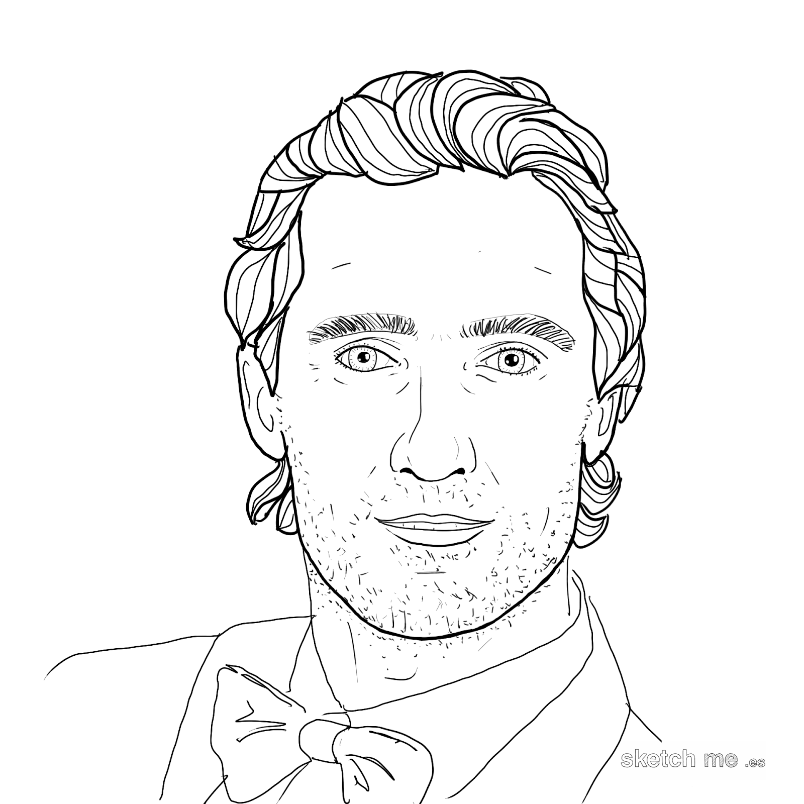 Matthew-McConaughey-sketch-me-custom-portraits-for-facebook-and-twitter-profiles-retratos-personalizados-dibujados-a-mano