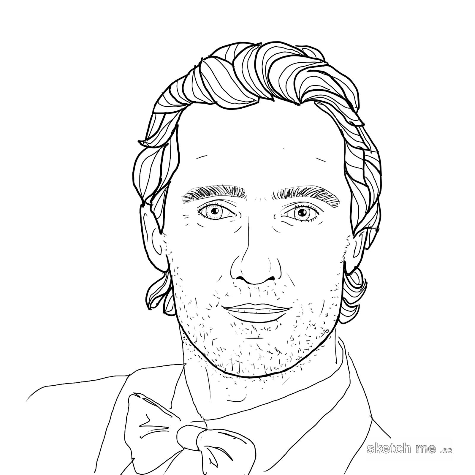 Matthew-McConaughey-sketch-me-custom-portraits-for-facebook-and-twitter-profiles-retratos-personalizados-dibujados-a-mano