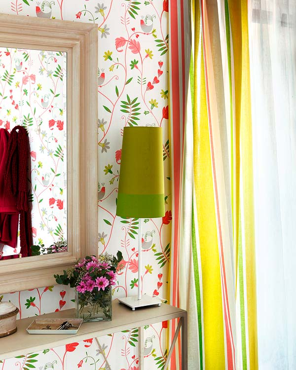 ... bold and bright, multicolor striped curtains. | Modern Diy Art Designs