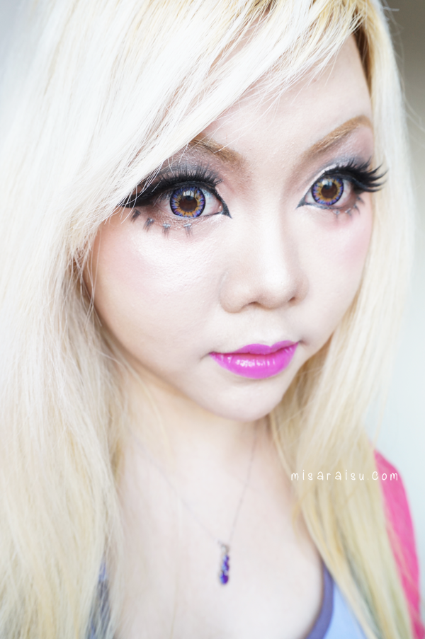 vassen purplish red circle lens