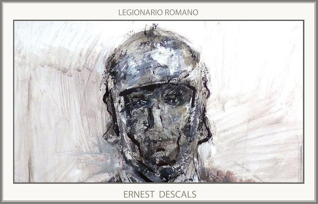 LEGIONARIO-ROMANO-PINTURAS-ARTE MILITAR-HISTORIA-FINAL-IMPERIO-PINTURA-ROMA-ARTISTA-PINTOR-ERNEST DESCALS-