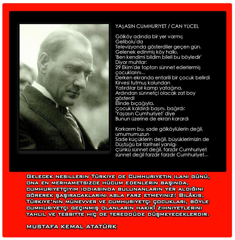 şiir Yaşasin Cumhuriyet Can Yücel Alp Içöz ün Gönül