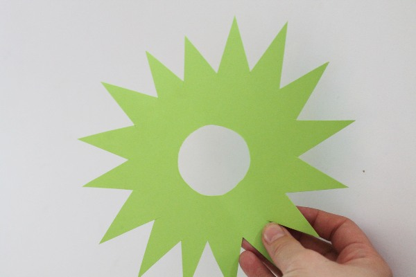 Cut a spiny star shape out of your green card