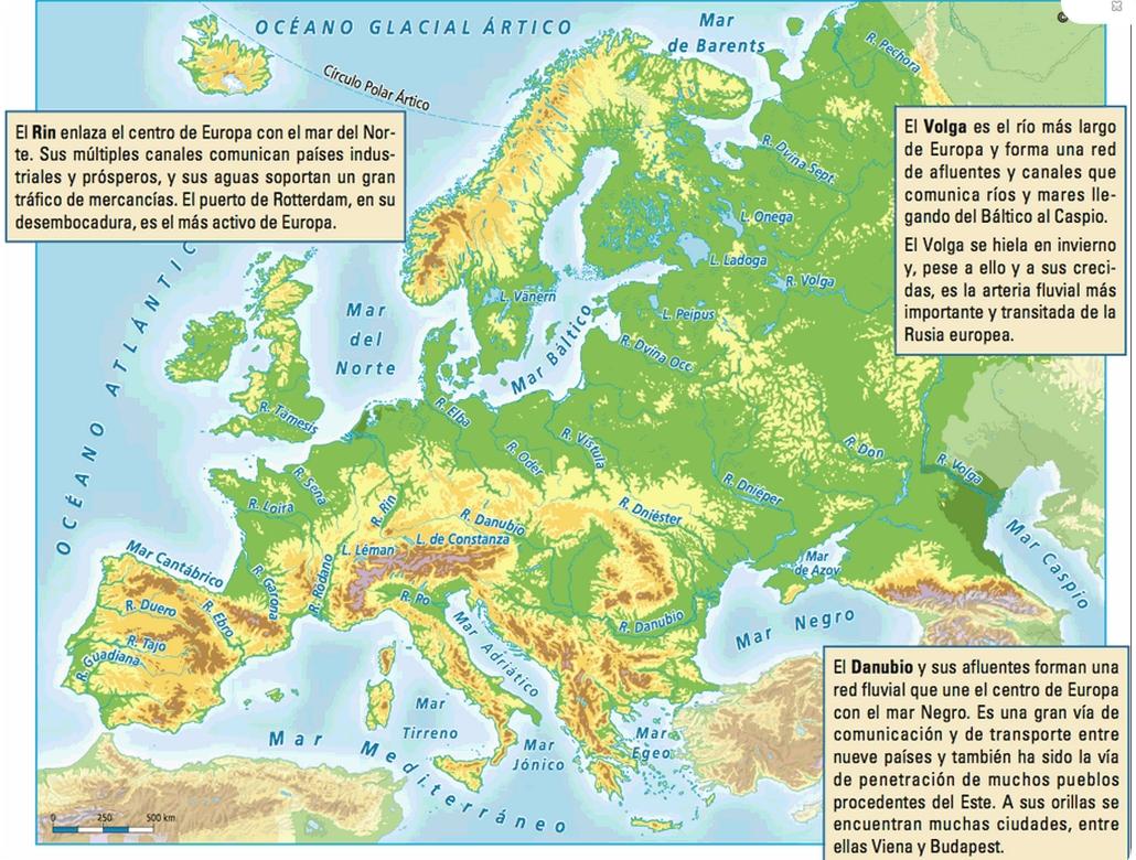 conquistandolahistoria EL RELIEVE DE EUROPA