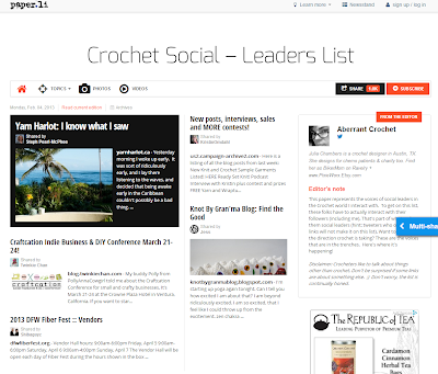 Crochet Social - Leaders List by Aberrant Crochet