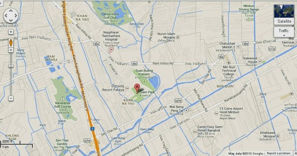 Detail Siam Park City Bangkok Location Map  About BTS Bangkok Thailand Airpo...