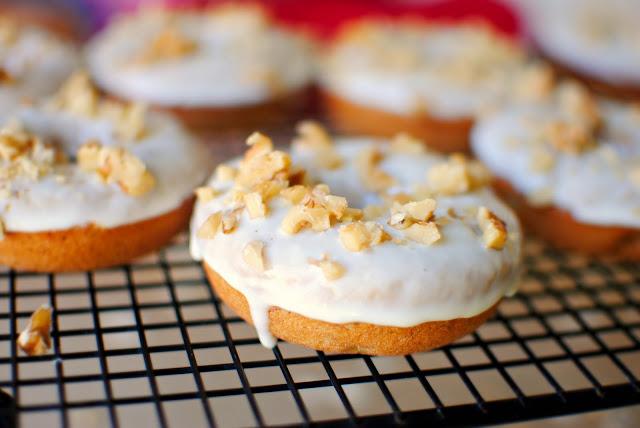 Banana Walnut Breakfast Doughnuts l SimplyScratch.com
