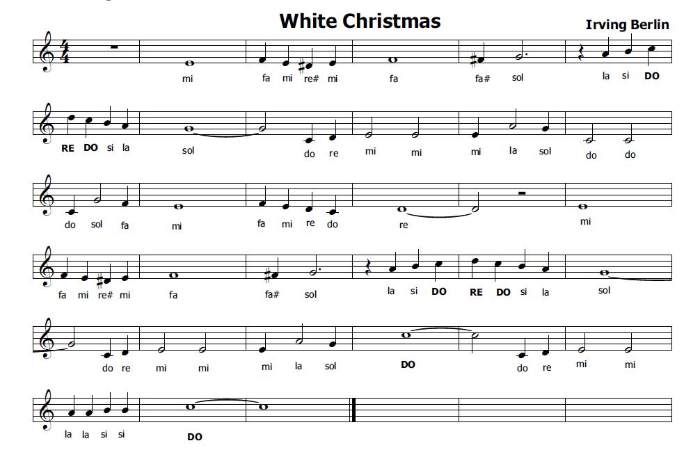 Popolare Musica e spartiti gratis per flauto dolce: White Christmas CC12
