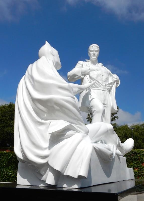 Batman Superman Modern Heroes statue West Hollywood