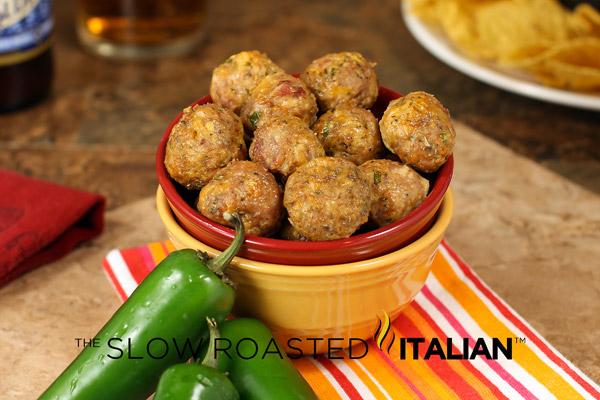 ... Italian - Printable Recipes: Bacon Jalapeño Turkey Popper Meatballs