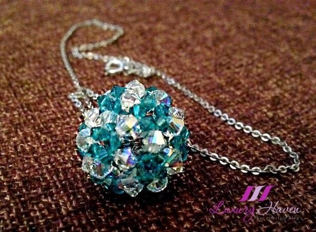 handmade swarovski crystal pendant