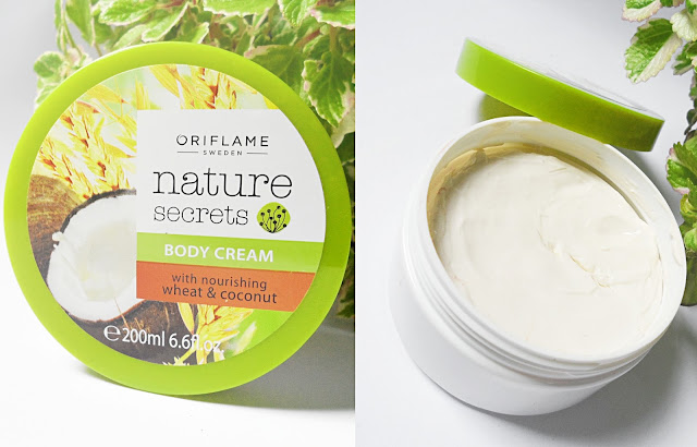 oriflame Nature Secrets Body Cream Nourishing Wheat Coconut body lotion butter review pictures natural liz breygel moisturizer