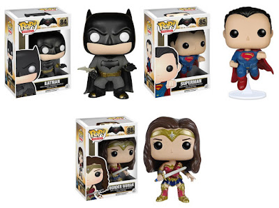 Batman v Superman: Dawn of Justice Pop! Series Vinyl Figures by Funko - Batman, Superman & Wonder Woman