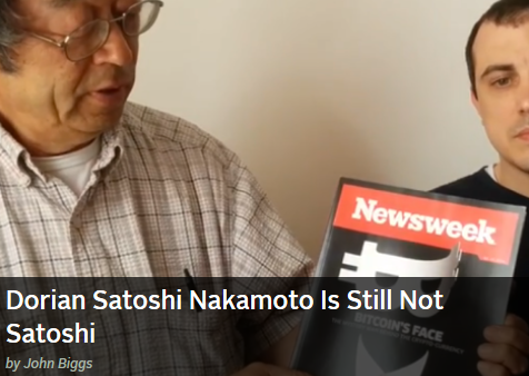 Dorian Nakamoto Thanks The Bitcoin Community, Reminds Us He's Not The Real Satoshi