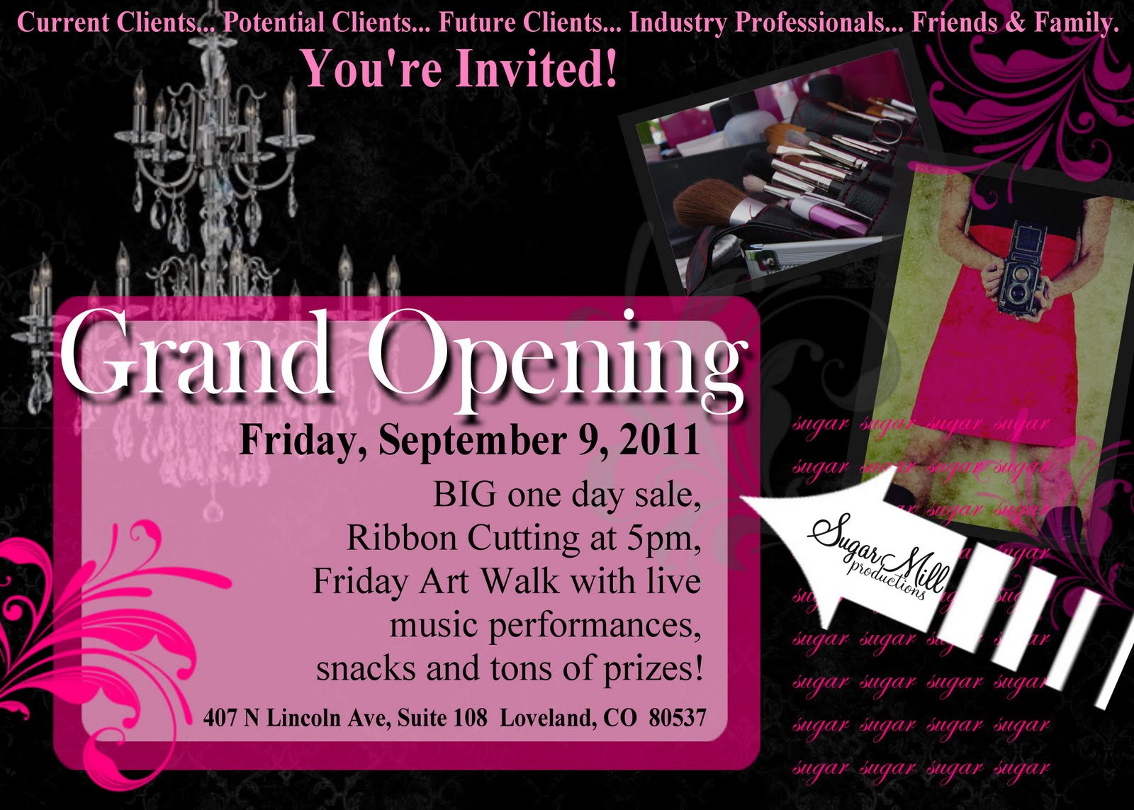 Hair Salon Grand Opening Flyer http://sugarmillproductionsco.blogspot.com/