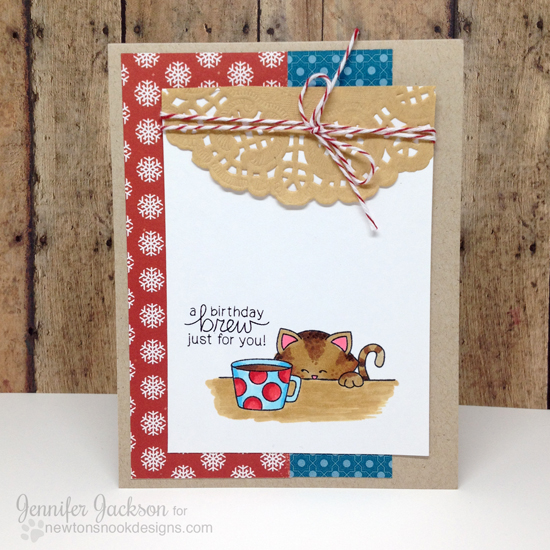 Holiday Coffee Lovers Blog Hop | Newton Loves Coffee Stamp set by Newton's Nook Designs #newtonsnook