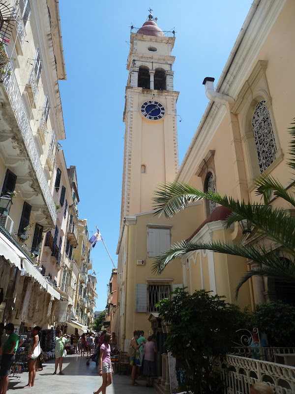 Die Kirche Agios Spiridonas in Korfu Stadt