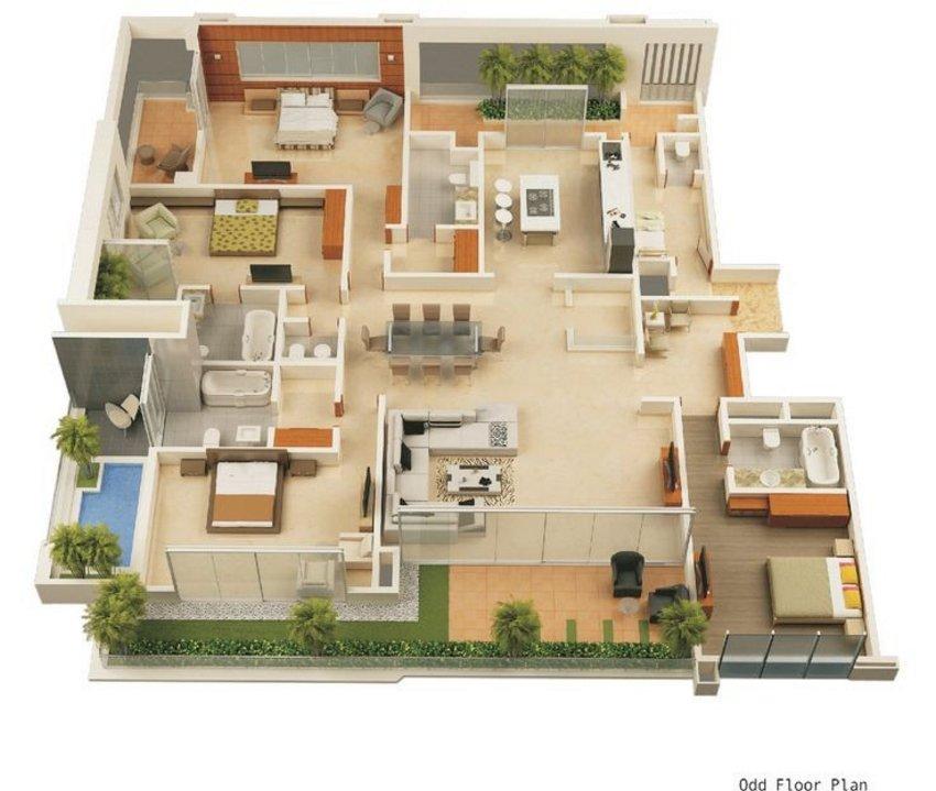 3D House Plans Concept 6 4