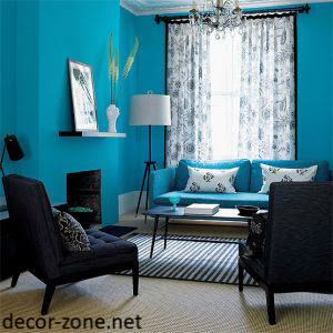 turquoise living room interior design ideas
